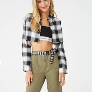 Forever 21 | Cropped | Plaid | Button Down